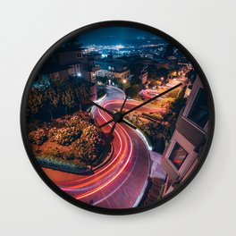 Lombard Street San Francisco California Wall Clock