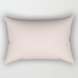Modern pastel brown white elegant lace pattern Rectangular Pillow