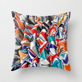 Trippy Pop Fluid II Throw Pillow