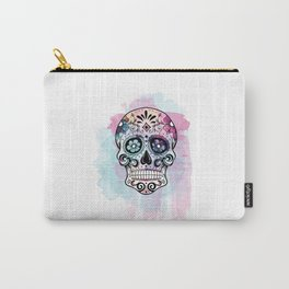 Watercolor Sugar Skull Carry-All Pouch