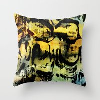 twins Throw Pillows featuring twins by clemm