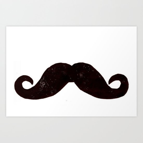 the stache - mustache Art Print