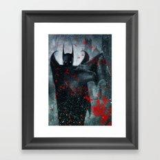Shadow of the Bat Framed Art Print