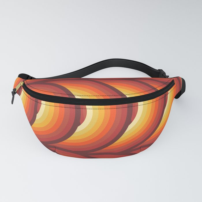 Retro Records in Orange Ombre Fanny Pack