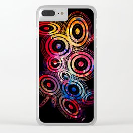 Vector circle shapes of the universe Clear iPhone Case