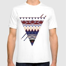 MellowToneTriangle Mens Fitted Tee MEDIUM White