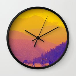 Mountains & Camels Wall Clock