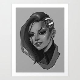 Hacked Art Print