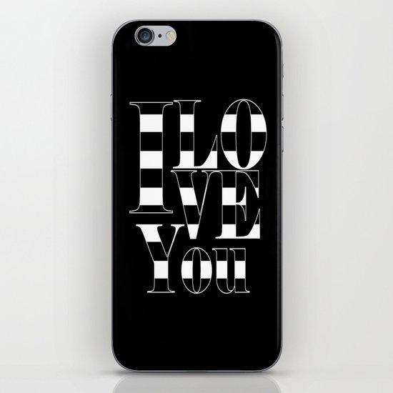I love you - black iPhone & iPod Skin