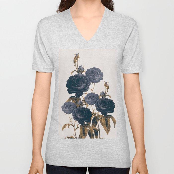 blue flowers Unisex V-Ausschnitt