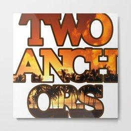 Sunset Anchors Metal Print