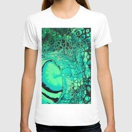 Green Alien Pour  T-shirt