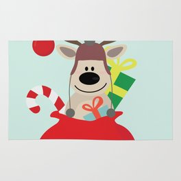 Santa Claus sends you Surprise gift with Mr Reindeer Rug