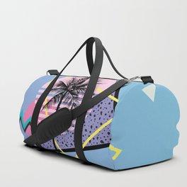 Memphis pattern 46 - 80s / 90s Retro / Palm Tree Duffle Bag