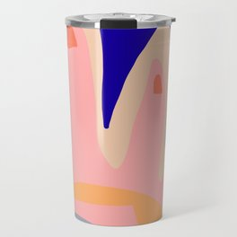 Shapes and Layers No.5 - Modern Shapes Painting Travel Mug