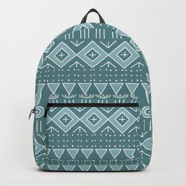 Mudcloth Style 2 in Teals Backpack