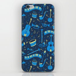 The Spirit of Jazz Pattern iPhone Skin