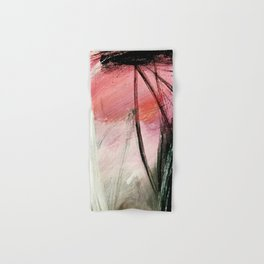 Train of thought: a vibrant abstract mixed media piece Hand & Bath Towel