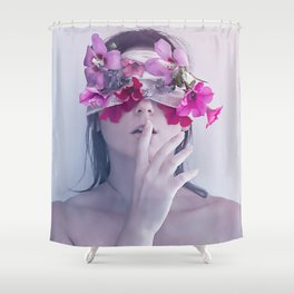 Flowers eyes Shower Curtain