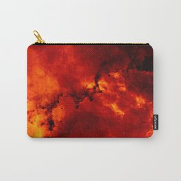 Red Galaaxy Fire Pattern Carry-All Pouch