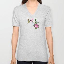 Desert Rose and Hummingbird Patterns Unisex V-Neck