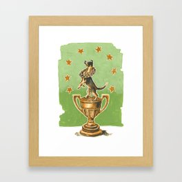 Dog Trophy 2 Framed Art Print