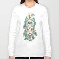 anxiety Long Sleeve T-shirts featuring Anxiety by Melissa Smets