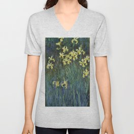 "Claude Monet ""Yellow irises"" Unisex V-Neck"