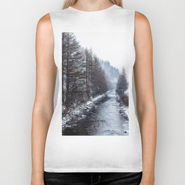 The Winter Path Forest (Color) Biker Tank
