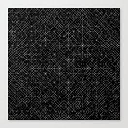 Black and White Overlap 1 Canvas Print