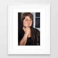 tina fey Framed Art Prints featuring Tina by m i c h a e l