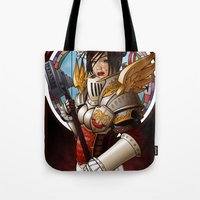 justice Tote Bags featuring Justice by Scott McCauley
