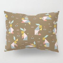 Tangram Bunnies M+M Nutmeg by Friztin Pillow Sham