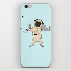 Attack of the Massive Pug!!! iPhone & iPod Skin