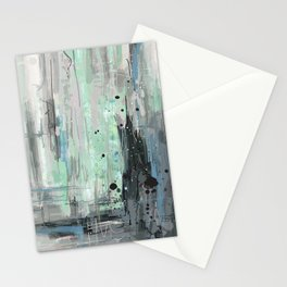 Bleu grey Abstract Stationery Cards