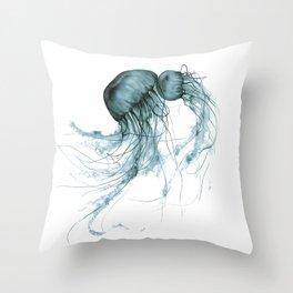 Emerald Waltz, Pacific Sea Nettle Throw Pillow