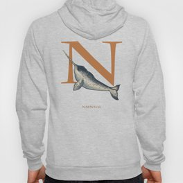 N is for Narwhal: Under Appreciated Animals™ ABC nursery decor sea life blue unusual animals Hoody