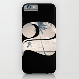 Nr. 2 | Numbers with a View | Typography Letter Art iPhone Case