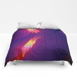 Glowing Hands 3 Comforters