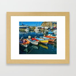 Mogan fishing boats Framed Art Print