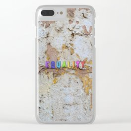Equality Paint Clear iPhone Case