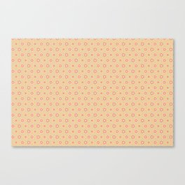 Children wallpaper background with circles and ornaments Canvas Print