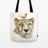 cheetah Tote Bags featuring Cheetah by dogooder
