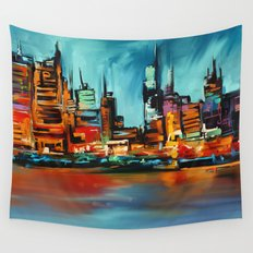 City Scapes Wall Tapestry