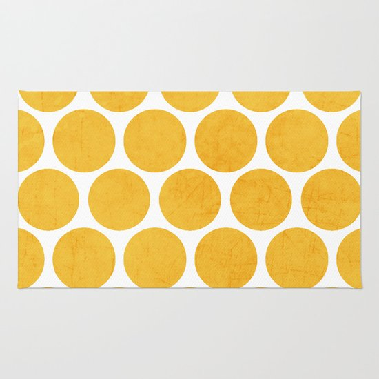 yellow polka dots Rug