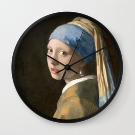 Girl with a Pearl Earring (1665), Old Masters Collection Wall Clock