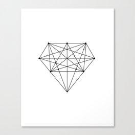 Geometric Diamond black-white poster design lowpoly fashion home decor canvas wall art Canvas Print