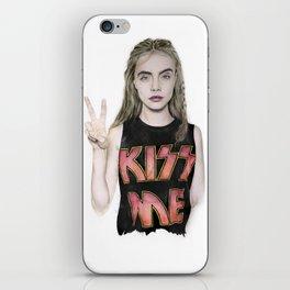 Cara Delevingne Kiss me iPhone Skin