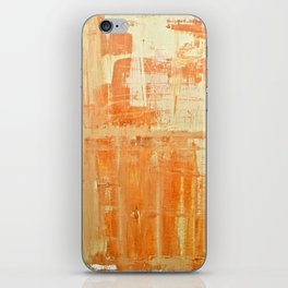 Warm Caramel Abstract Painting iPhone Skin