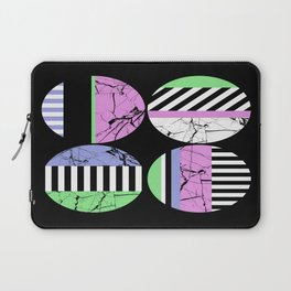 AMPS Uno - Abstract Marble Pastel Stripes Laptop Sleeve